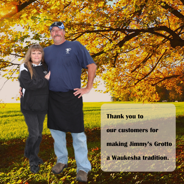Doug and Holly owners of Jimmy's Grotto